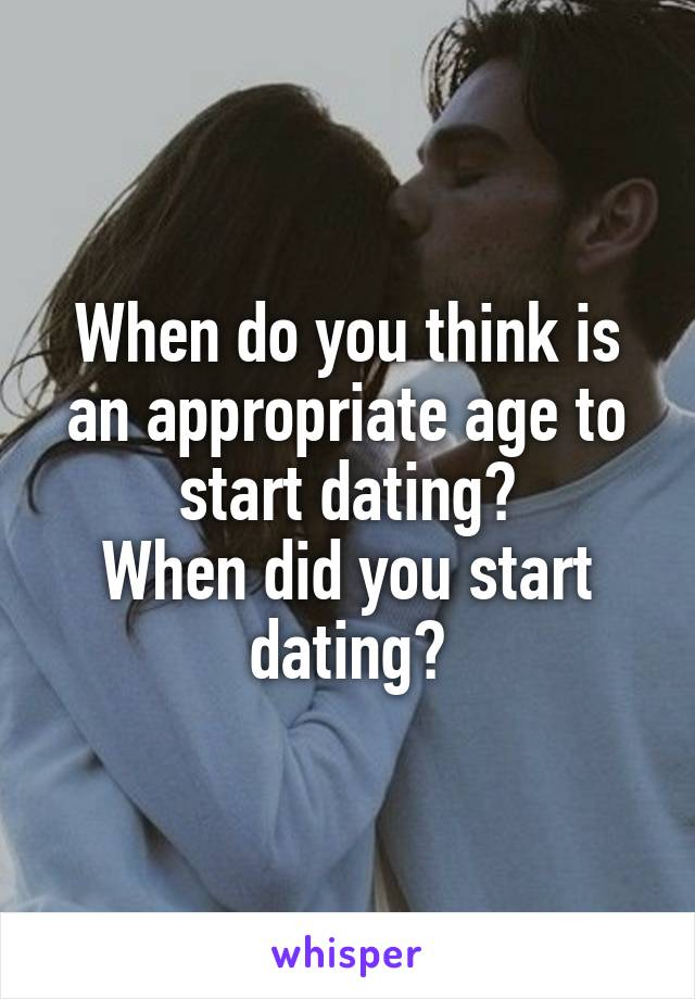 what age can you start dating