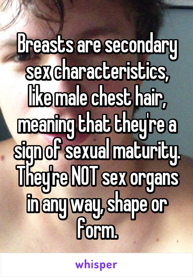 Agree, secondary sex characteristics of males opinion you commit