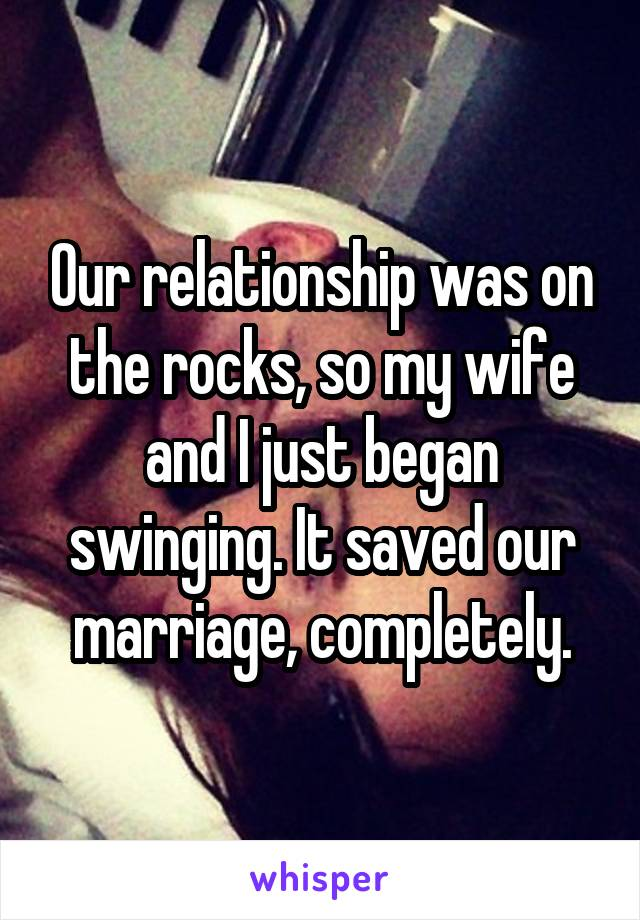 Can swinging help my marriage theme
