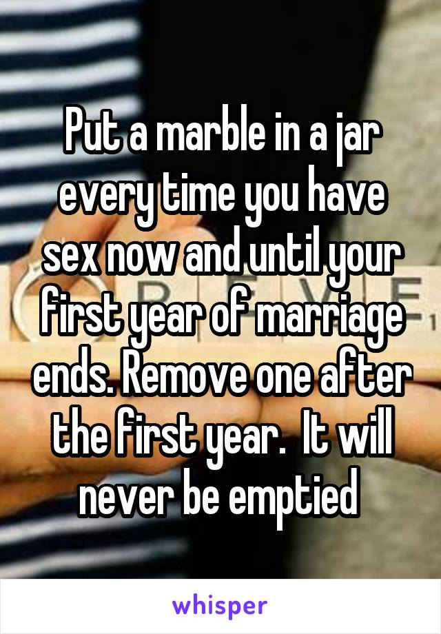 Why does sex after marriage end
