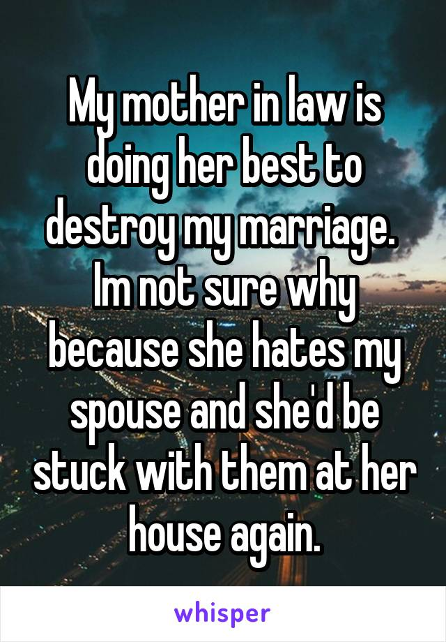 my wife hates my mother
