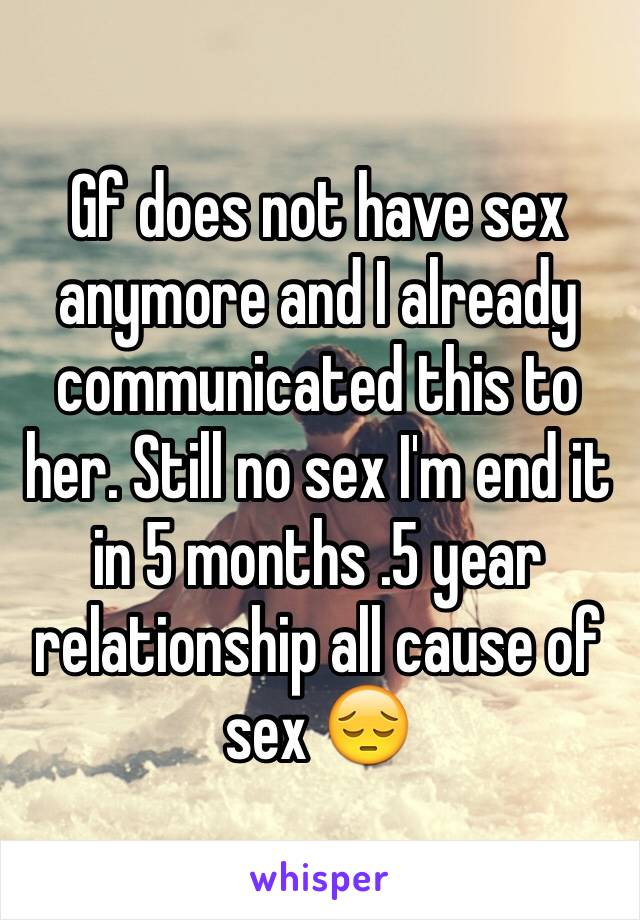 No sex in relationship for months