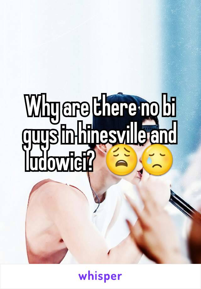 Why are there no bi guys in hinesville and ludowici?  😩😢