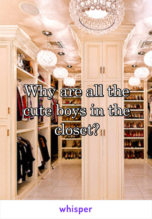 Why are all the cute boys in the closet?