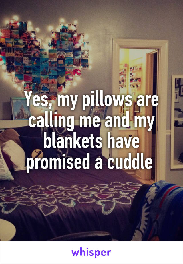 Yes, my pillows are calling me and my blankets have promised a cuddle
