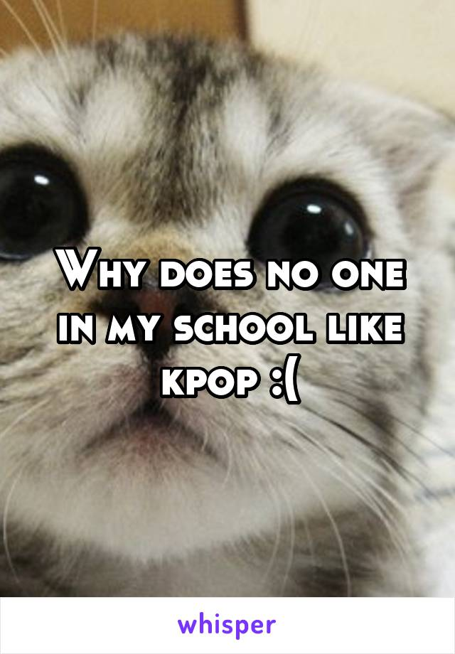 Why does no one in my school like kpop :(