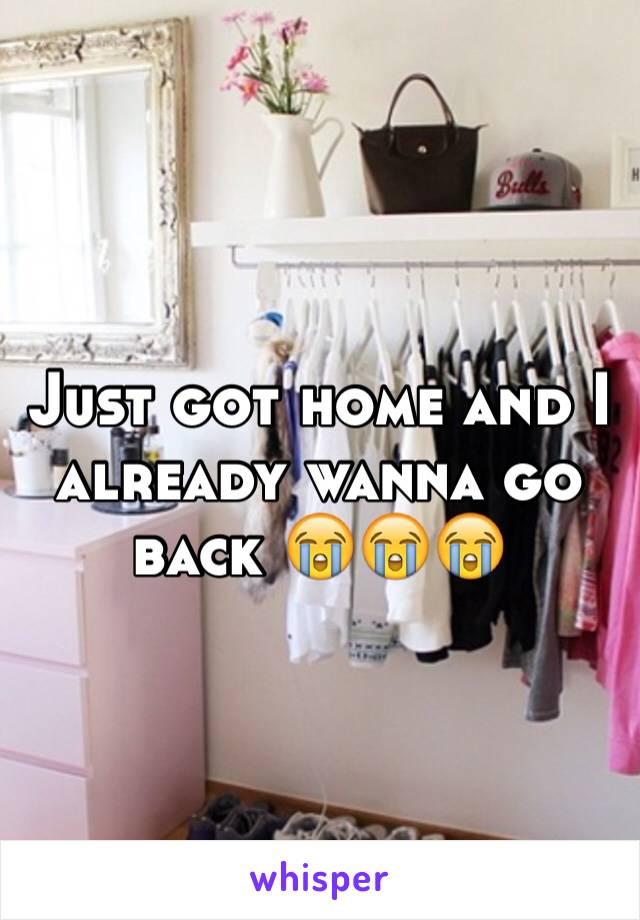 Just got home and I already wanna go back 😭😭😭