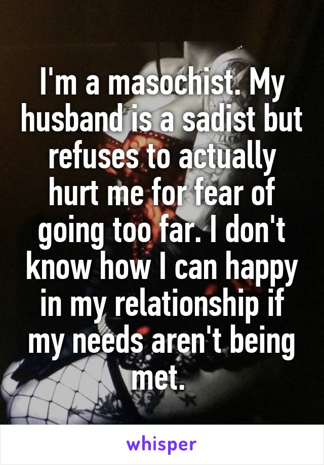 Masochist vs sadist