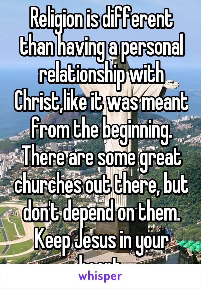 beginning a relationship with jesus