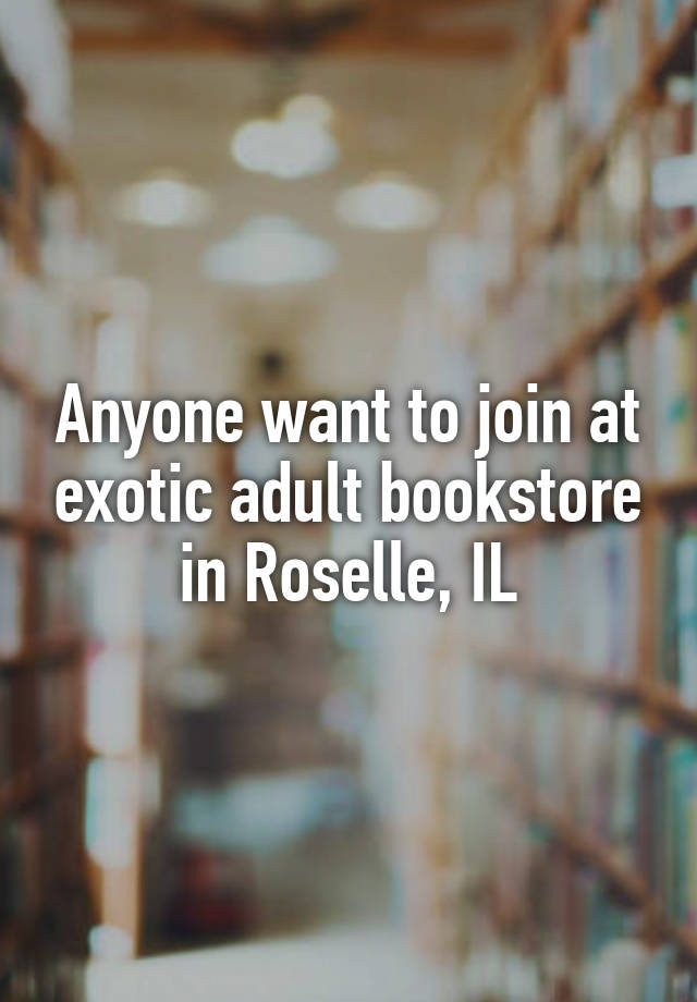 Adult book store il