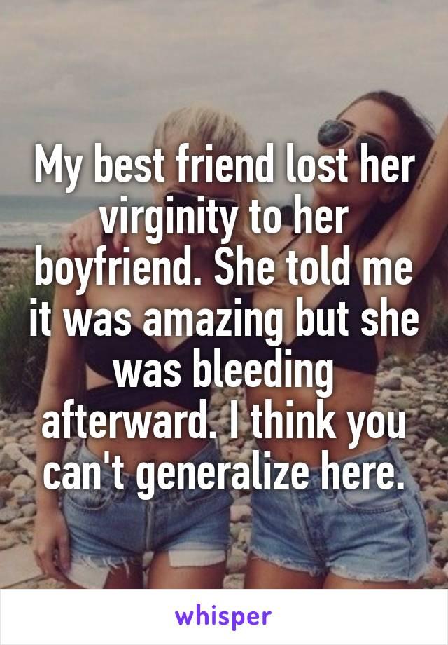 Virginity to her best friend