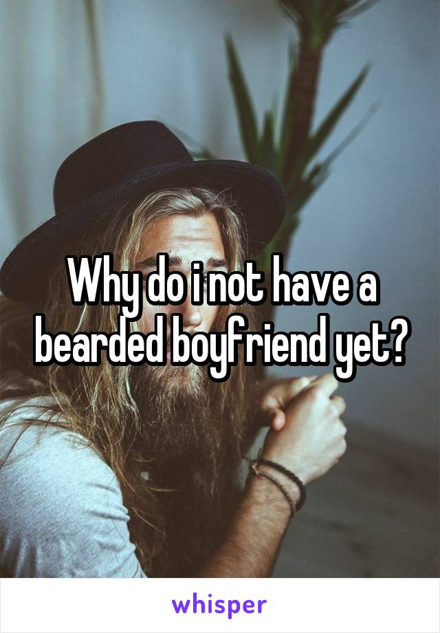 Why do i not have a bearded boyfriend yet?