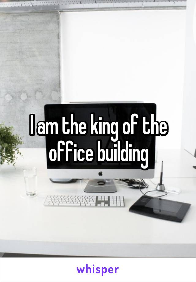 I am the king of the office building