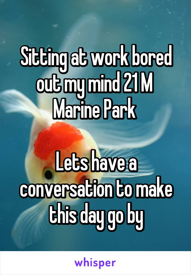 Sitting at work bored out my mind 21 M  Marine Park   Lets have a conversation to make this day go by