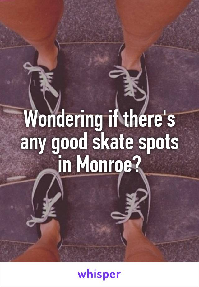 Wondering if there's any good skate spots in Monroe?