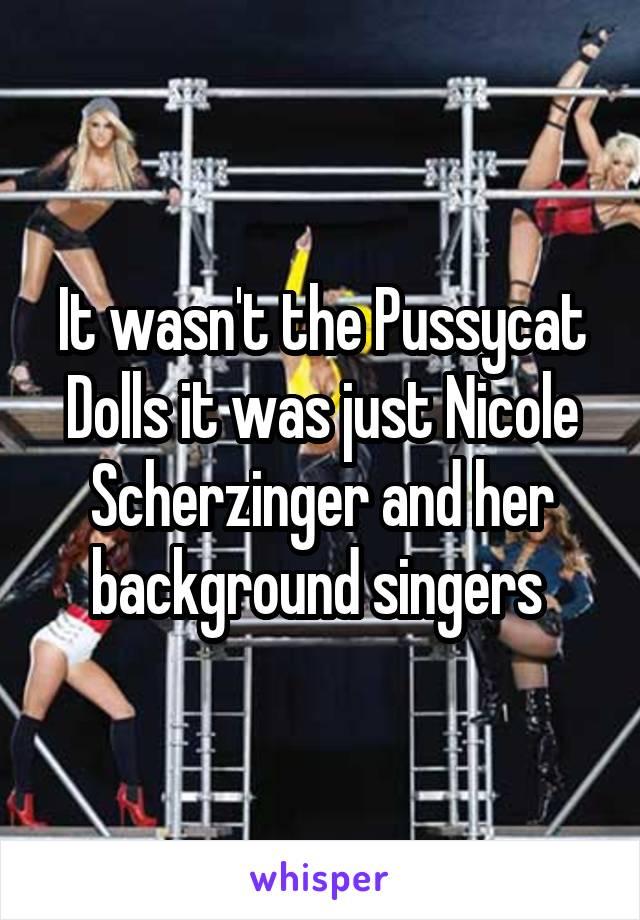 It wasn't the Pussycat Dolls it was just Nicole Scherzinger and her background singers