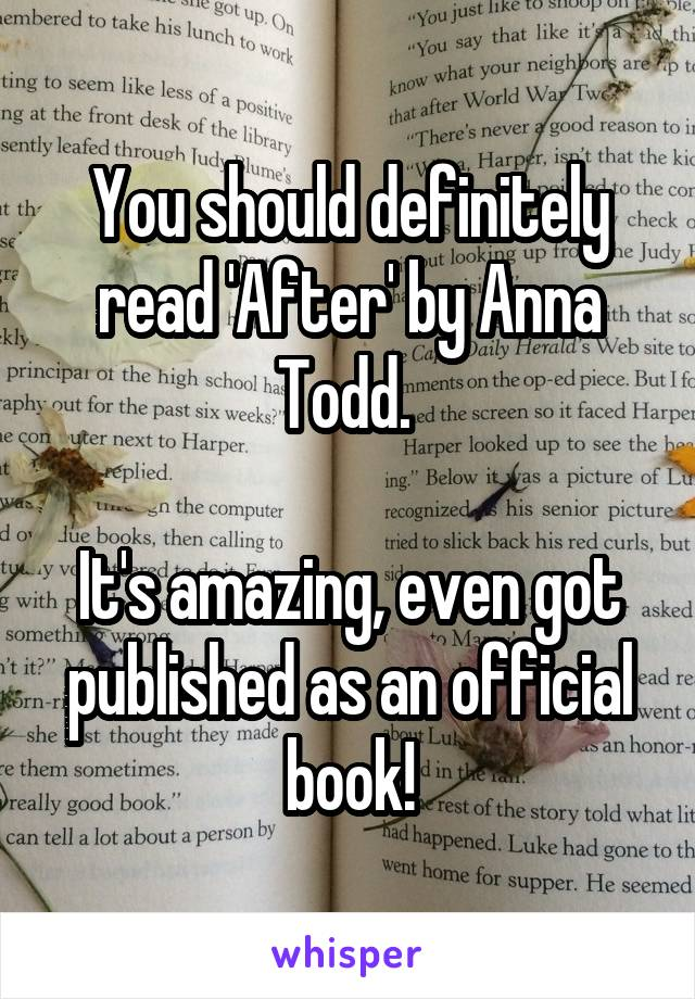 You should definitely read 'After' by Anna Todd.   It's amazing, even got published as an official book!