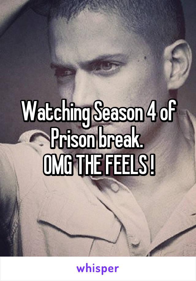 Watching Season 4 of Prison break.  OMG THE FEELS !