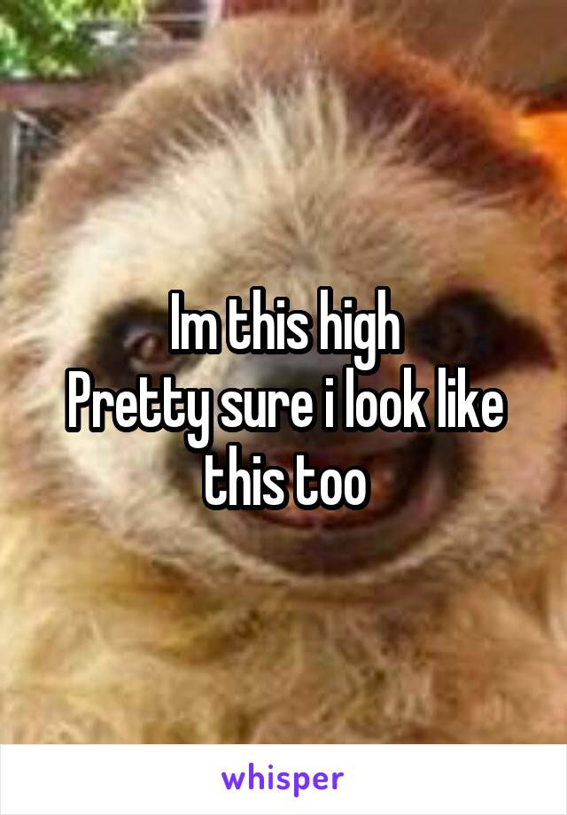 Im this high Pretty sure i look like this too