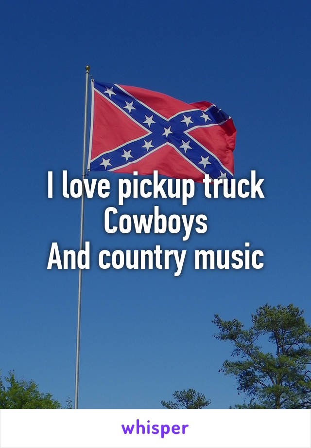 I love pickup truck Cowboys And country music