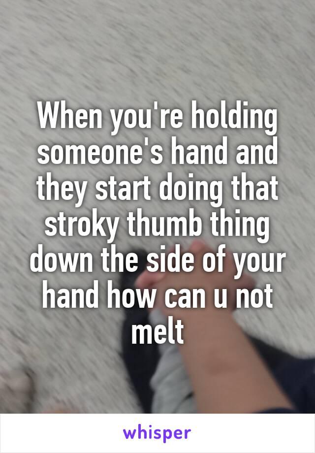 Hand Holding Somones Not