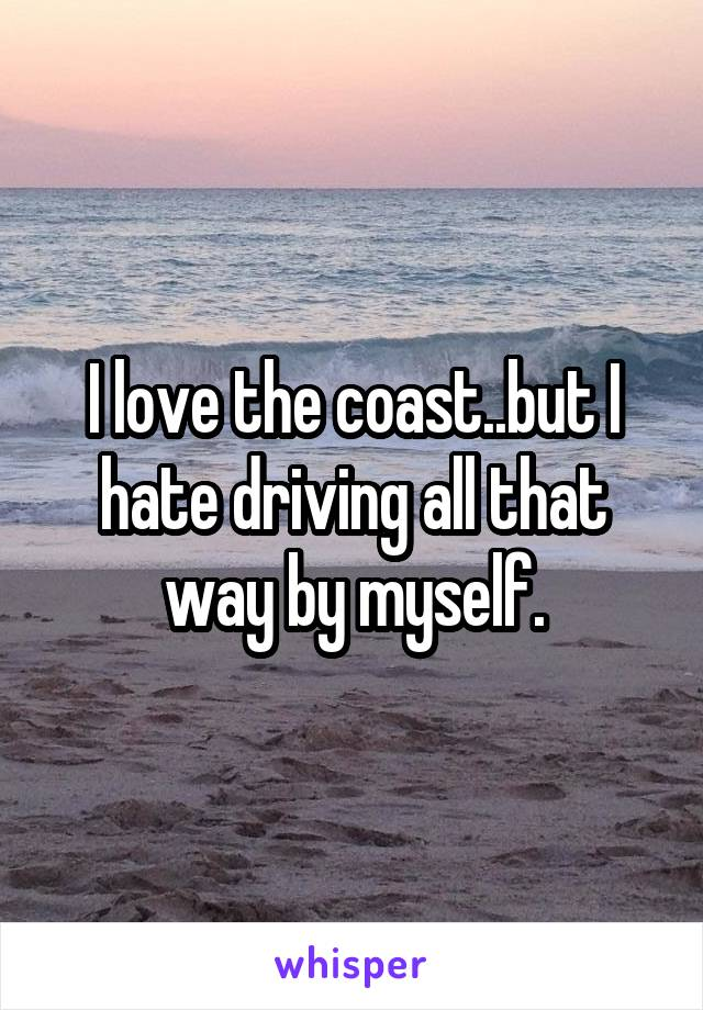 I love the coast..but I hate driving all that way by myself.