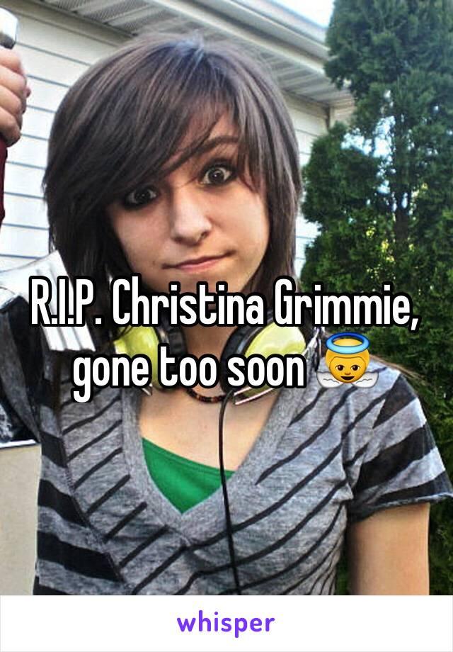 R.I.P. Christina Grimmie, gone too soon 👼