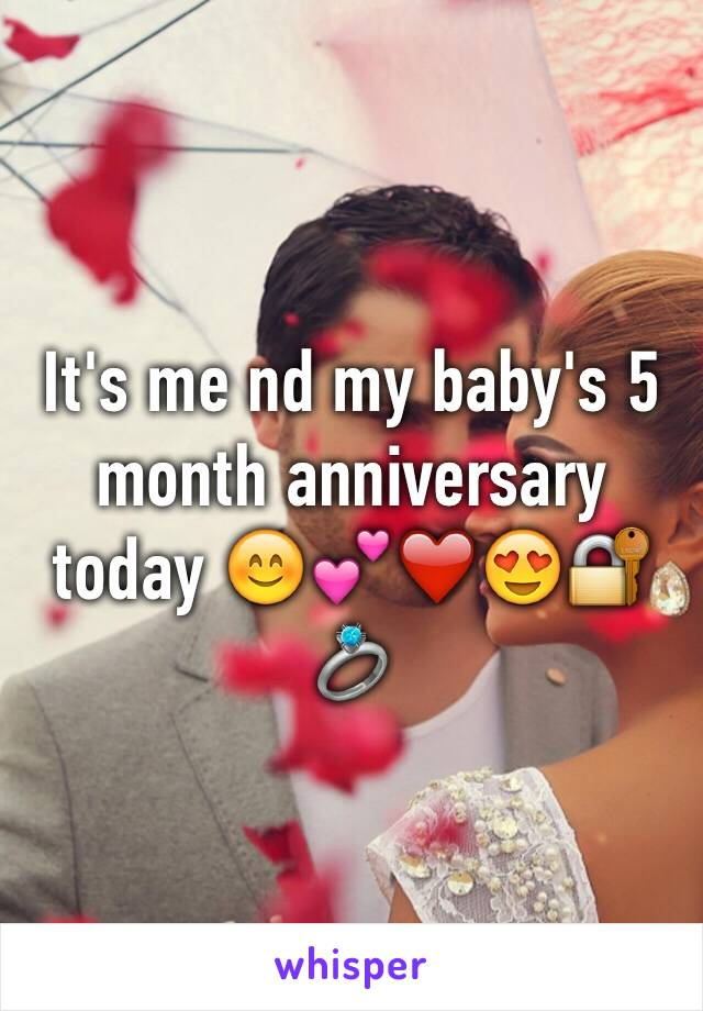 It's me nd my baby's 5 month anniversary today 😊💕❤️😍🔐💍