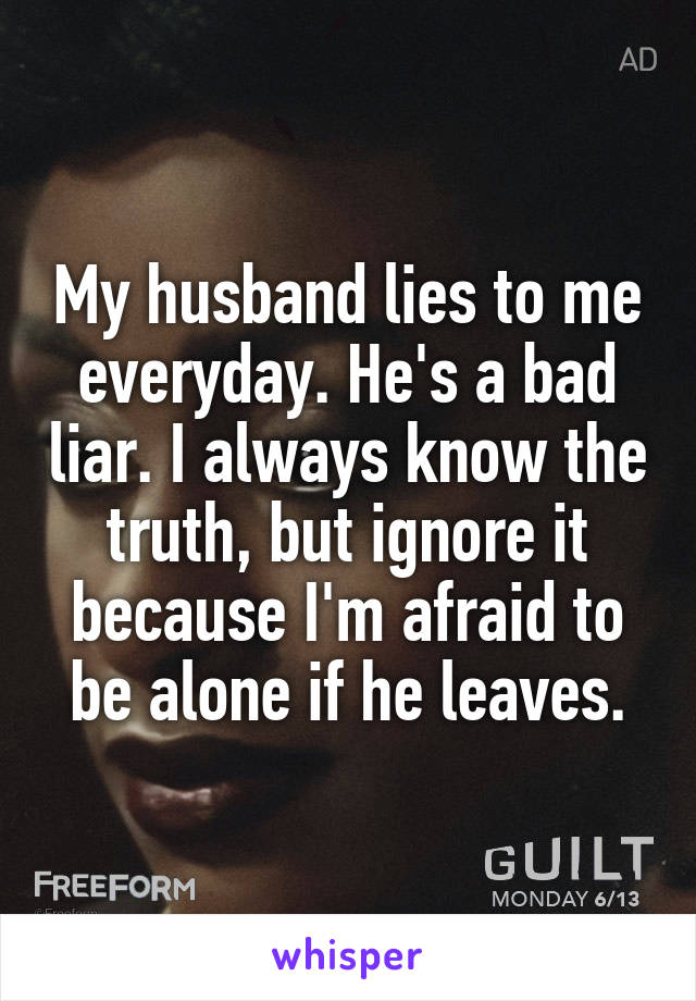 7 signs of a lying husband to watch out for