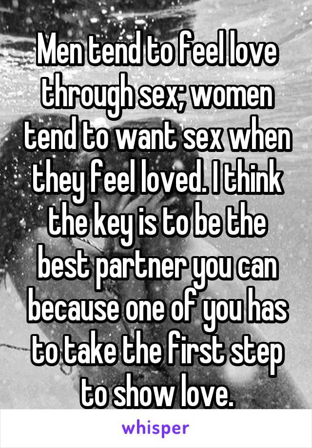 Do men show love through sex