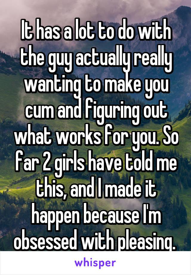 with Im cum obsessed