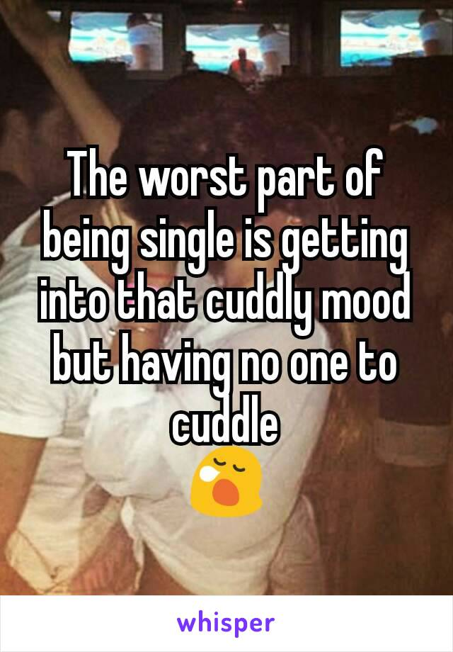The worst part of being single is getting into that cuddly mood but having no one to cuddle 😪