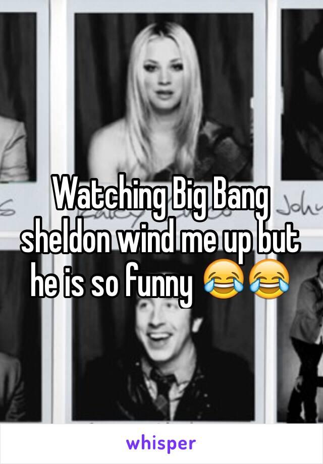 Watching Big Bang sheldon wind me up but he is so funny 😂😂