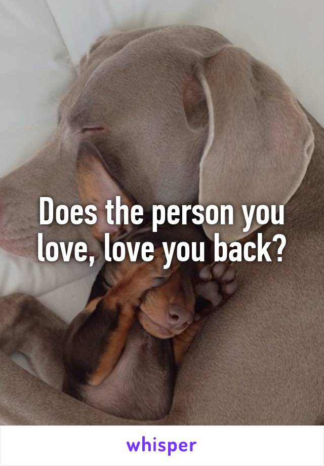 Does the person you love, love you back?