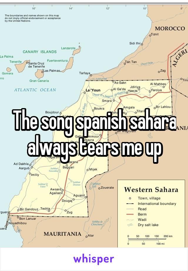 The song spanish sahara always tears me up