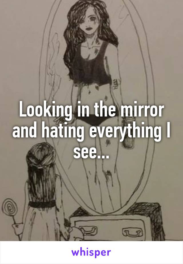 Looking in the mirror and hating everything I see...