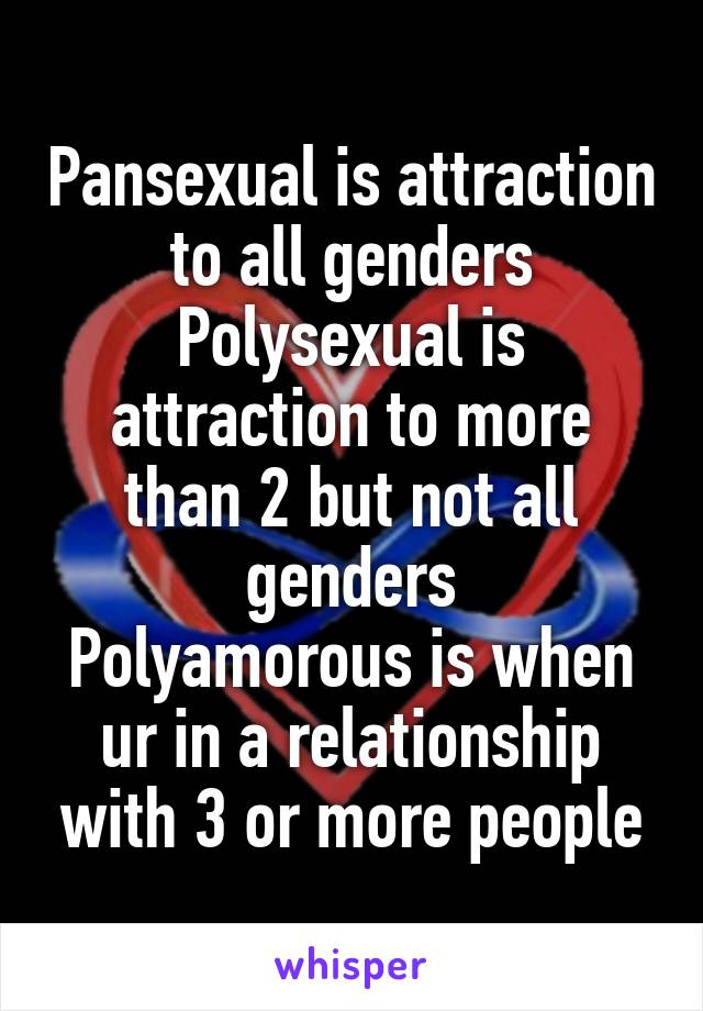 Difference between polyamory and polysexual