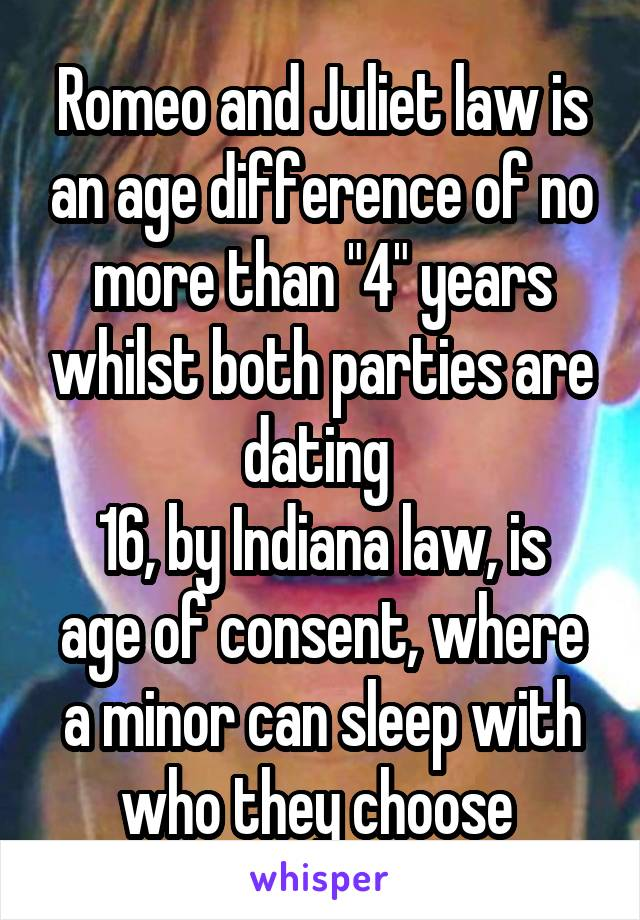 What is the legal age of dating in Indiana? Minors_ Legal Questions & Answers