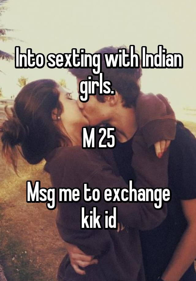 Kik id for sexting