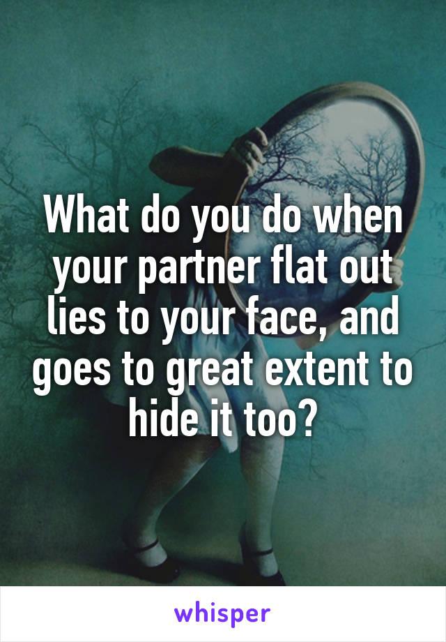 When your partner lies