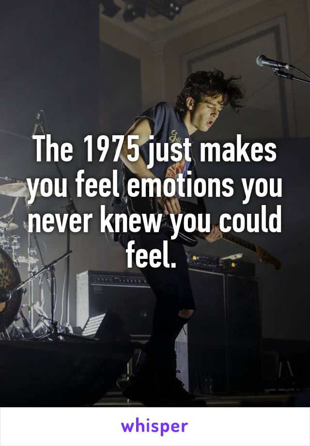 The 1975 just makes you feel emotions you never knew you could feel.