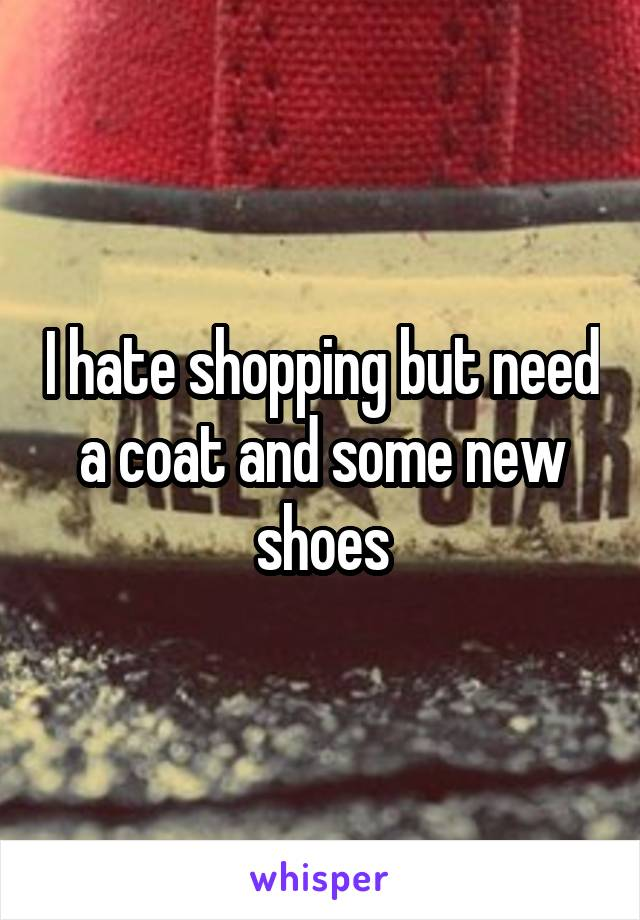 I hate shopping but need a coat and some new shoes