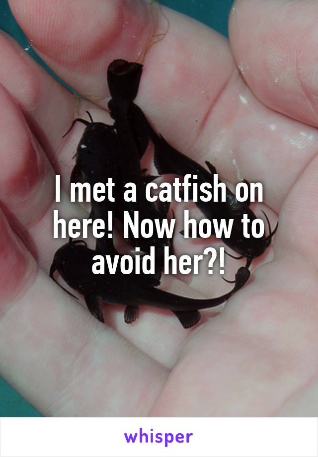 I met a catfish on here! Now how to avoid her?!