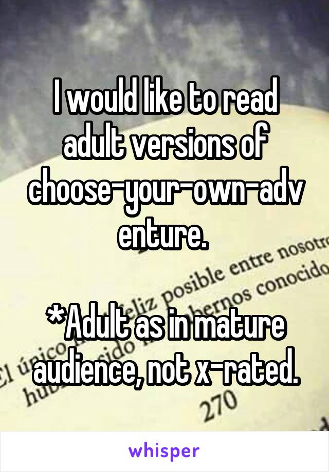 rated x mature Adult