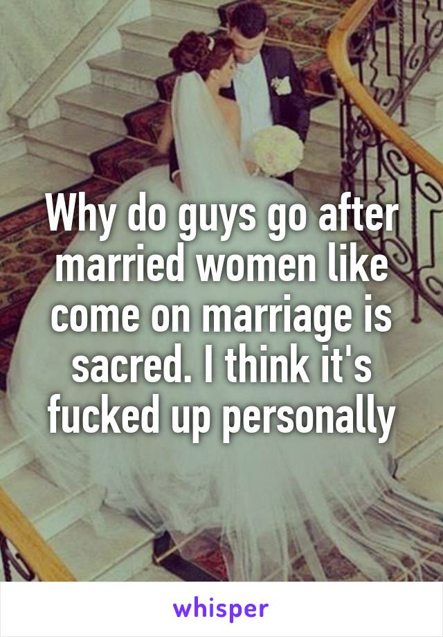 i like a married woman