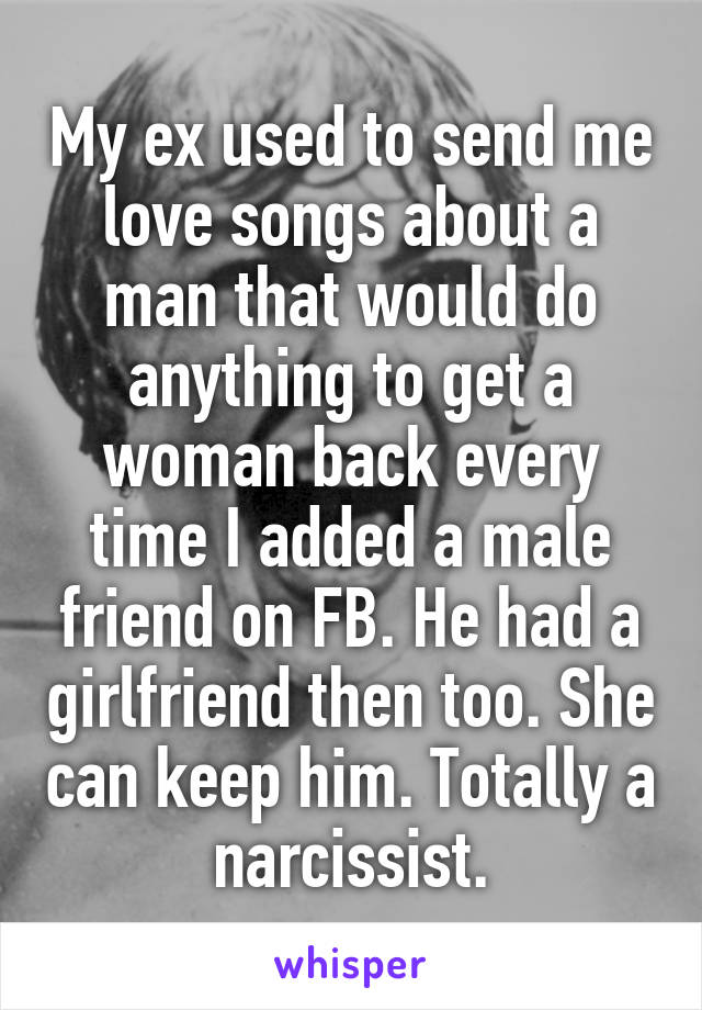 love songs from man to woman