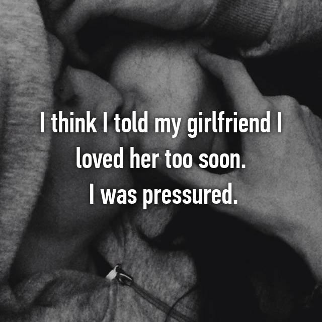 Saying I Love You Too Soon Hookup