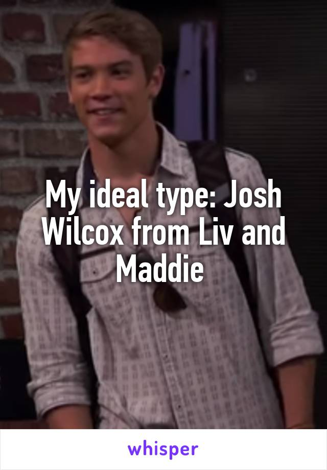 My ideal type: Josh Wilcox from Liv and Maddie