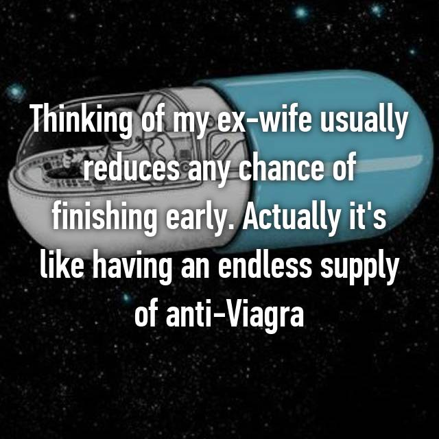 Thinking of my ex-wife usually reduces any chance of finishing early. Actually it's like having an endless supply of anti-Viagra