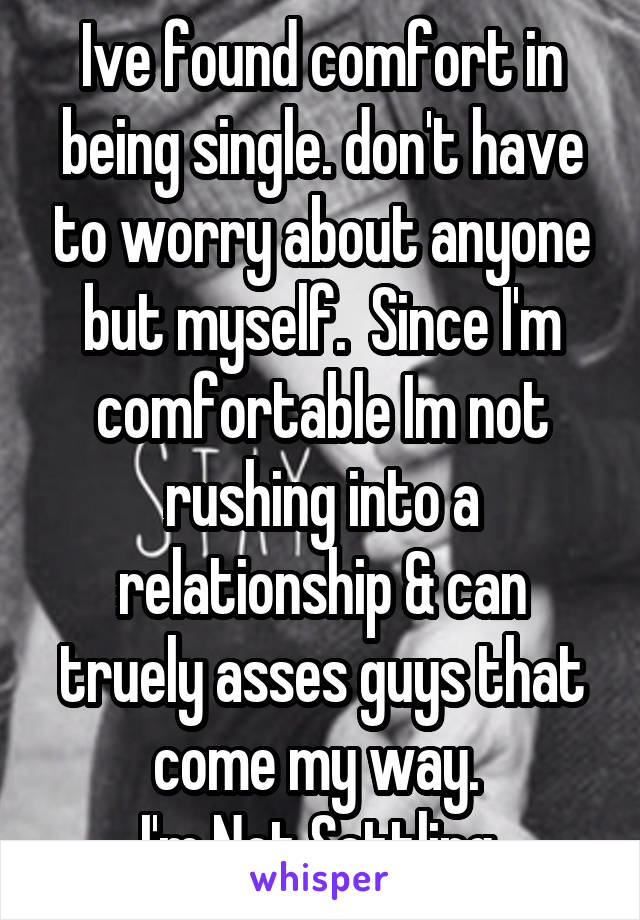 Not rushing a relationship